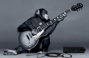 monkey play guitar